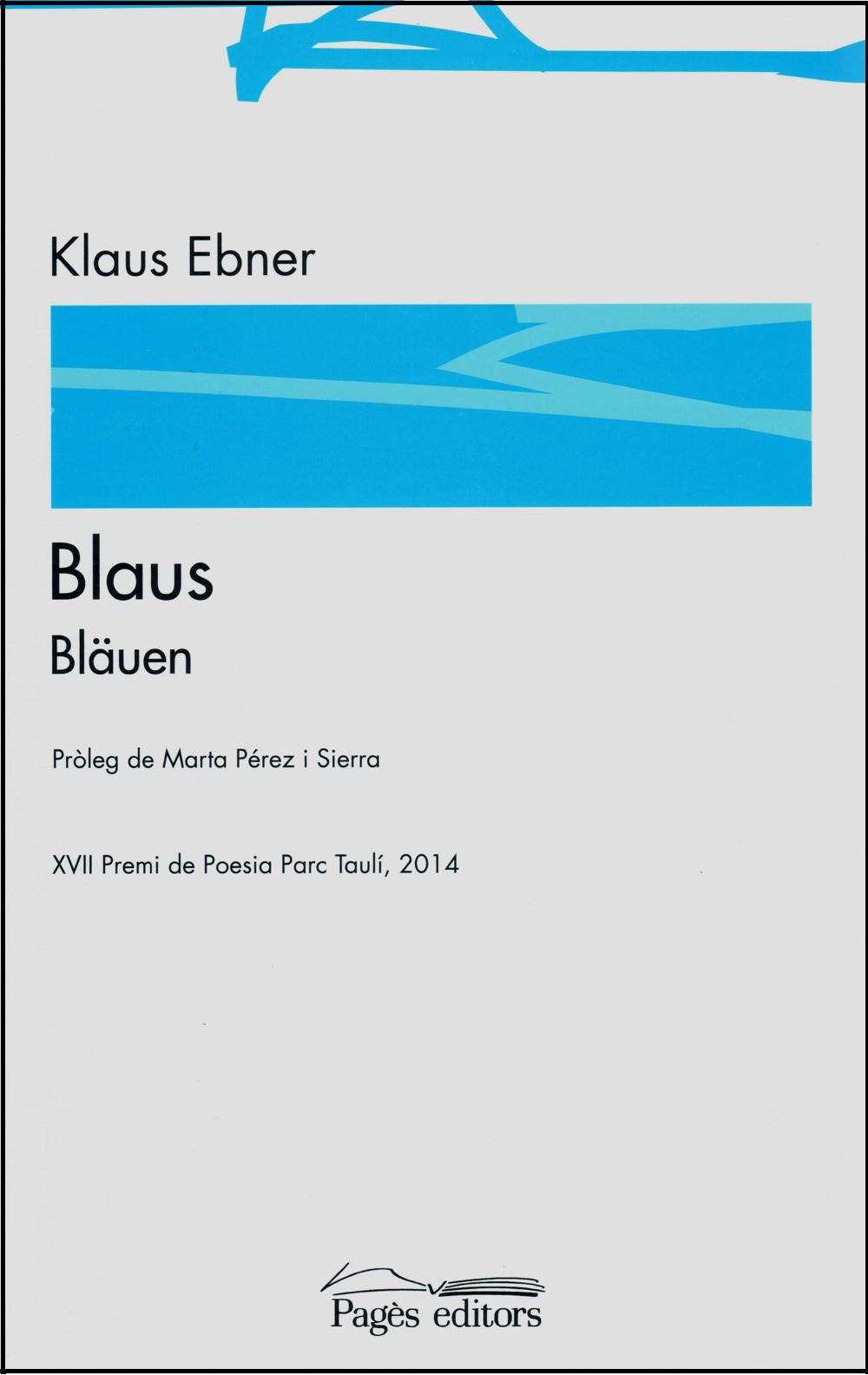 "Cobertura del poemari ""Blaus"""